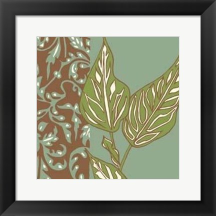 Framed Nouveau Leaves IV Print