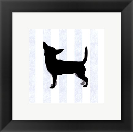 Framed Chihuahua In Neutral Print