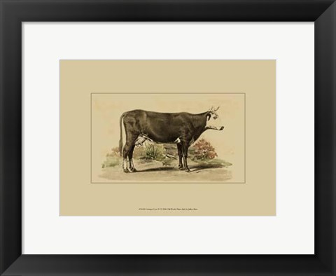 Framed Antique Cow IV Print