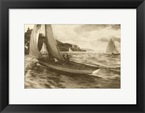 Framed Falmouth Harbor Print