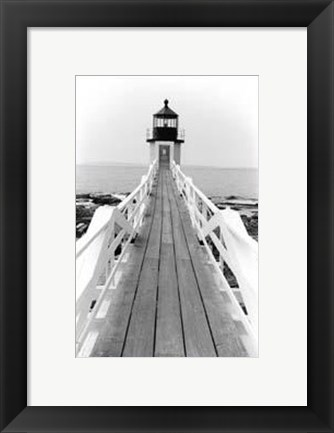 Framed Marshall Point Light, Maine Print