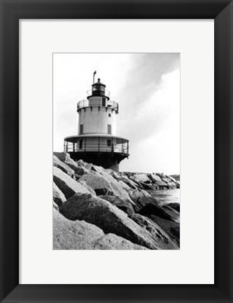 Framed Spring Point Light, Maine I Print