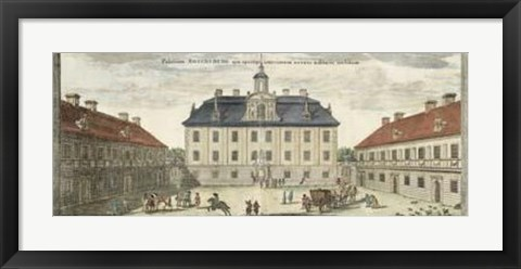 Framed Palace Courtyard Print