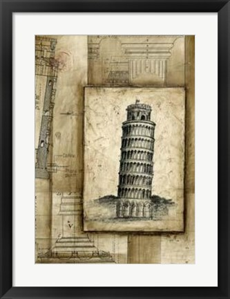 Framed Passport To Pisa Print