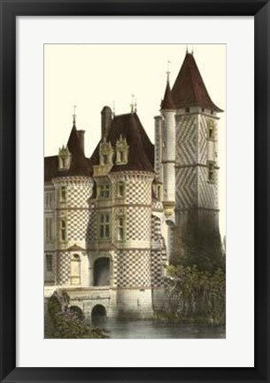 Framed French Chateaux In Brick II Print