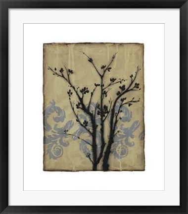 Framed Branch In Silhouette II Print