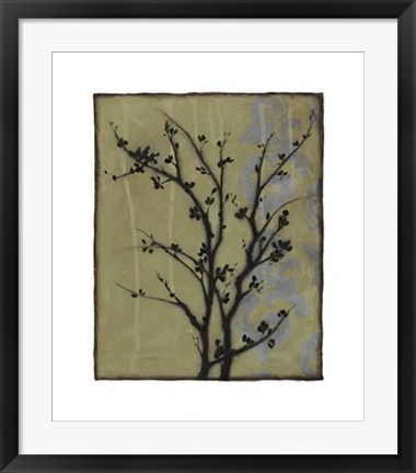 Framed Branch In Silhouette III Print