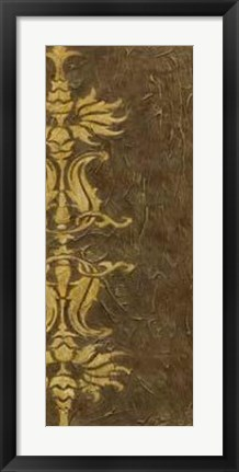Framed Gold Damask V Print