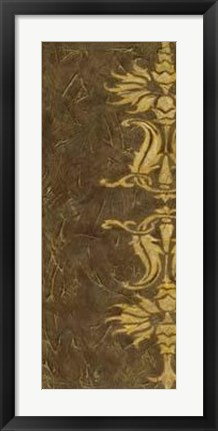 Framed Gold Damask VI Print