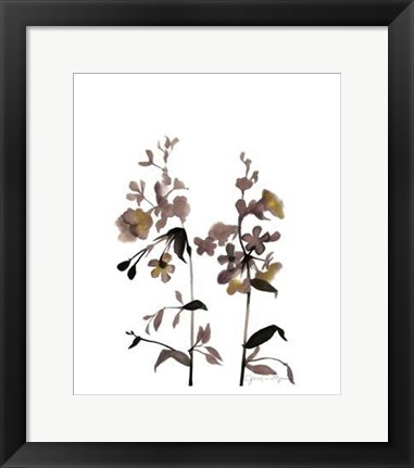 Framed Watermark Wildflowers III Print