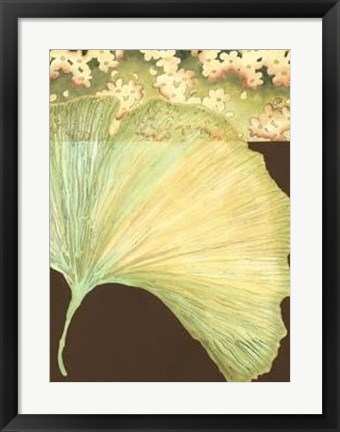 Framed Filigree Ginkgo II Print
