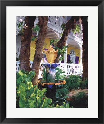 Framed Conch Fountain Print