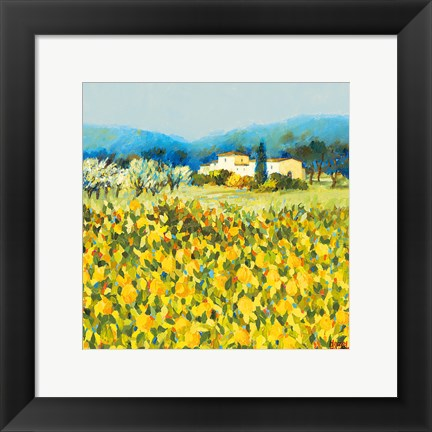 Framed Lemon Grove, Tuscany Print