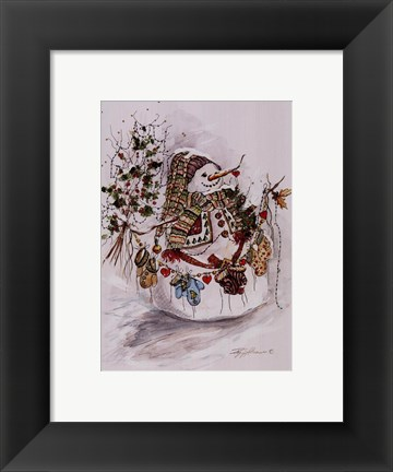 Framed Christmas Mitts Print