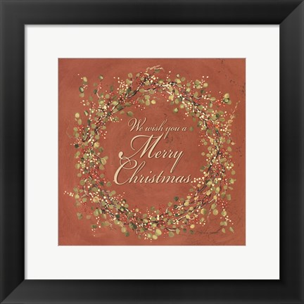 Framed Wish You a Merry Christmas Print