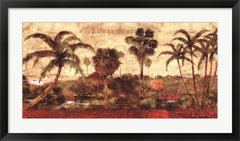 Framed Palm Garden Print
