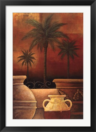 Framed Sunset Palms II Print