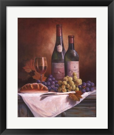 Framed Wine & Grape II Print