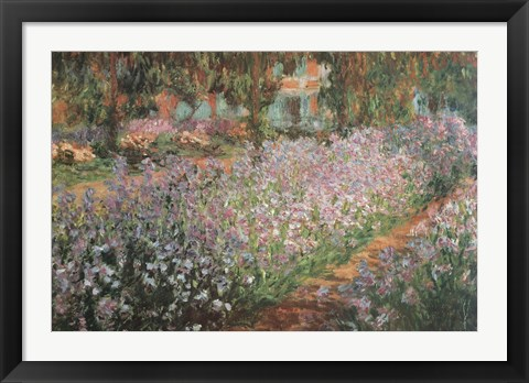 Framed Artist's Garden At Giverny, 1900 Print