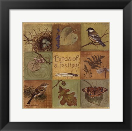 Framed Birds of a Feather - square Print