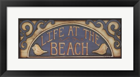 Framed Life At the Beach Print