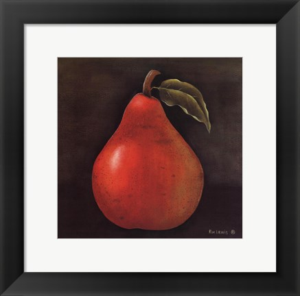 Framed Red Pear Print