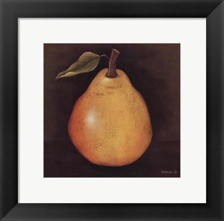 Framed Yellow Pear Print