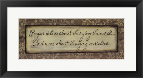 Framed Prayer is Less About Print