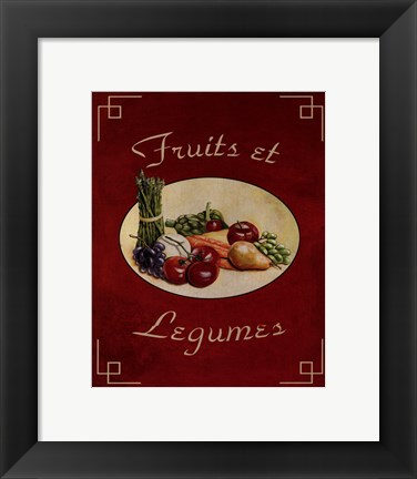 Framed Fruits Et Legumes Print