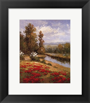 Framed Poppy Vista I Print