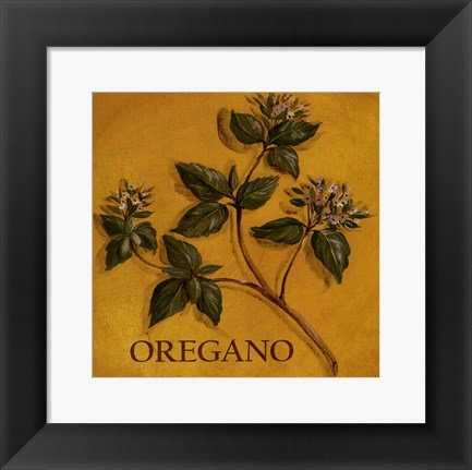 Framed Oregano Print