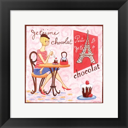 Framed French Chocolate Print