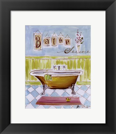 Framed Bath I Print