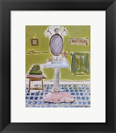 Framed Bath III Print