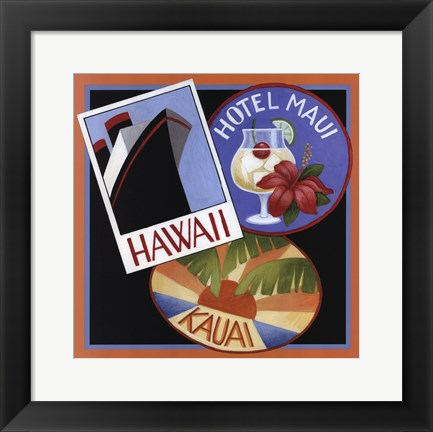 Framed Travel-Hawaii Print
