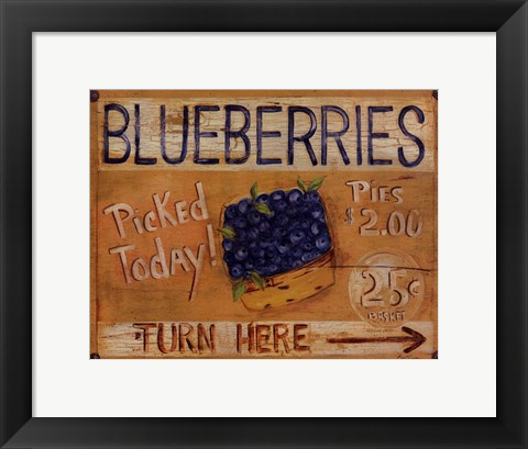 Framed Fruit Stand I Print