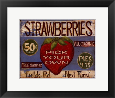 Framed Fruit Stand III Print