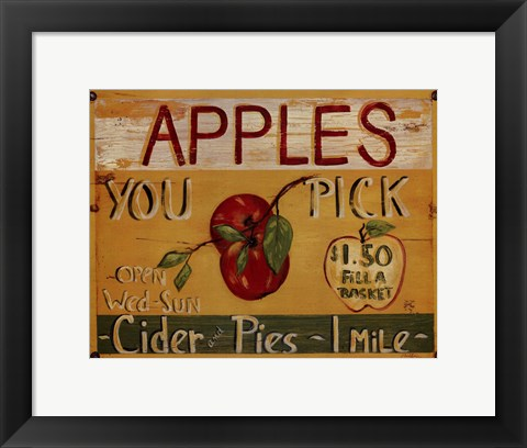 Framed Fruit Stand IV Print