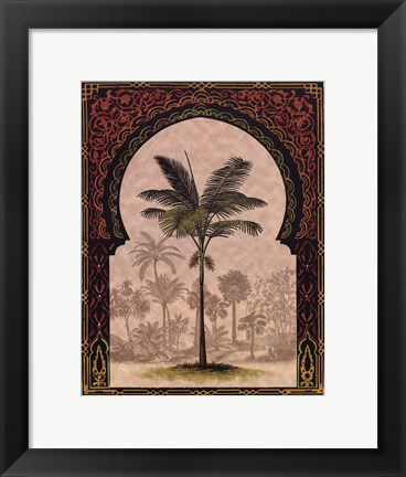 Framed Moorish Palms I Print