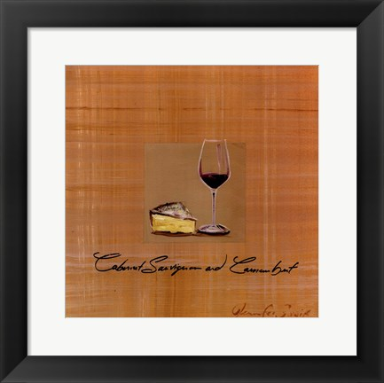 Framed Wine Cheese I Print