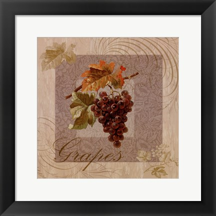 Framed Fruits Blossoms I Print