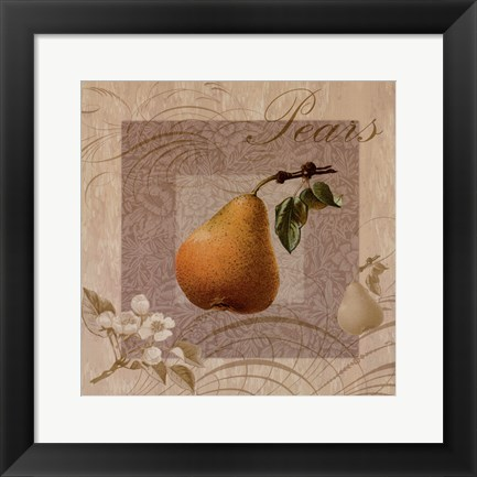 Framed Fruits Blossoms III Print