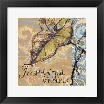 Framed Spirit Of Truth Print