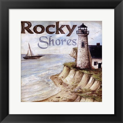 Framed Rocky Shores Print