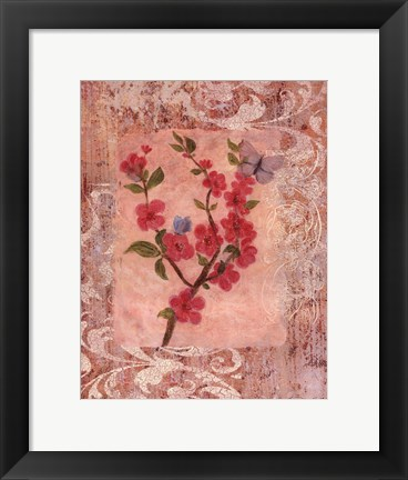 Framed Butterflies And Blossoms IV Print