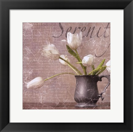 Framed Dutch Tulips I Print