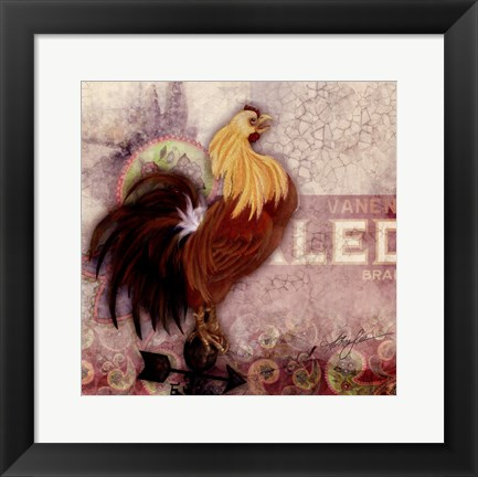 Framed Morning Rooster Print