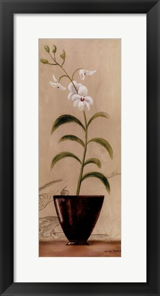 Framed Asian Orchid I Print
