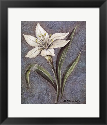 Framed White Lilly Print
