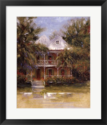 Framed Keywest Cottage I Print